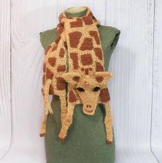 Animal scarf Giraffe art Crochet giraffe African animal Safari