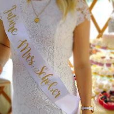Items similar to Custom Glitter Font Bridal Sash Tea Party Bridal Shower, Bridal Shower Games, Bridal Shower Decorations, Bridal Showers, Couple Shower, Bridal Sash, Bridesmaid Gifts, Bridesmaid Proposal, Maid Of Honor