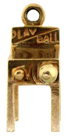 Vintage 14 karat Pin Ball Machine charm..