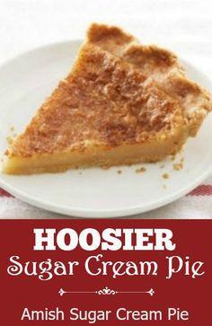 about Sugar cream pie on Pinterest | Cream Pies, Sugar Cream Pie ...