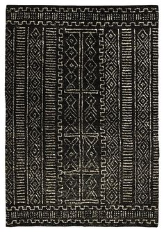 Black Aztec Rug www.