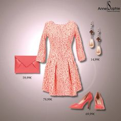 """Casual chic 2015 pink panterprint dress with pink pumps. Anne-Sophie SMARTSHOPPING offers a feminine ready-to-wear """"Casual Chic"""" collection for a year-round feminine look."""
