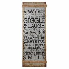 """Inspiration abounds in this antiqued metal wall sign, featuring uplifting sentiments paired with rope trim.   Product: Wall decorConstruction Material: Metal and ropeColor: Natural, black and whiteDimensions: 38"""" H x 14"""" W x 1"""" D"""
