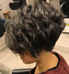 Curly Layered Pixie Bob