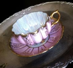Antique Royal Sealy Pink Iridescent Lusterware Tea by Pickedtwice