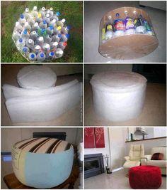 .Boa ideia para reciclar garrafas pet.