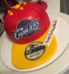 Cleveland Cavaliers Basketball Cap Cake #cakesbytrishlorie