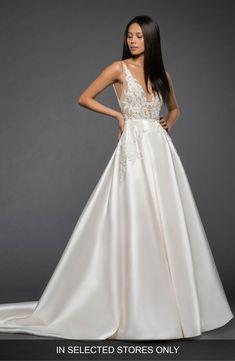069537f4e80d Lazaro Rufina Lace Illusion Bodice Mikado Ballgown | Nordstrom. Lazaro  Wedding DressWedding ...
