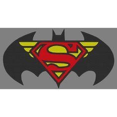 Trinity Logo SuperMan BatMan Wonder Woman Embroidery Design