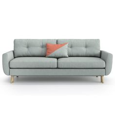 Harris 3 Seater Sofa Bed OPTISOFA Upholstery: Mint / Brick orange 4 Seater Sofa Bed, Chesterfield Sofa Bed, Sofa Uk, Loveseat Sofa, Sofa Design, Modular Sofa Bed, Buy Sofa Online, Cushions For Sale, Sofa Legs