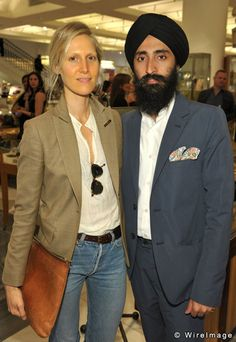 "Stylist Jessica de Ruiter and designer Waris Ahluwalia  attend a ""Cele..."
