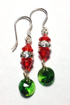 Festive Holiday Swarovski Crystal Dangle by InspiredStylebyC $25 with free shipping to the 48 contiguous states