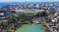 Los estadios para la Copa Confederaciones Brasil 2013 - FONTE NOVA, SALVADOR  Capacidad: 50.433 personas  Costo: 592 millones de reales (unos 291,12 millones de dólares)