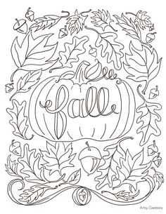 fall coloring pages printable free # 10