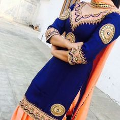 Get this salwar suit designed at nivetas design studio whatsapp +917696747289 http://www.facebook.com/punjabisboutique we deliver world wide