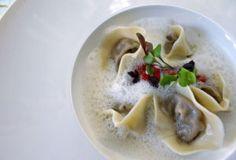 Black Garlic Tortellini with Parmesan Foam Garlic Tortellini, Black Garlic, Rabbit Hole, Parmesan, Cooking, Desserts, Food, Kitchen, Tailgate Desserts