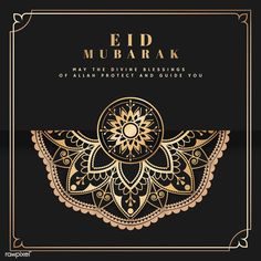 Vector de postal eid mubarak negro y oro vector gratuito Eid Mubarak Logo, Eid Mubarak Banner, Mubarak Ramadan, Ied Mubarak, Ramadan Cards, 14 August Wallpapers, Eid Envelopes, Eid Greeting Cards, Eid Eid
