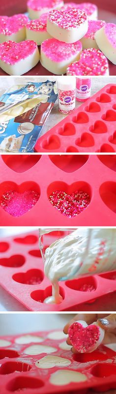 Sprinkle Heart Candy | Easy Valentines Day Treats to Make | DIY Gifts for Boyfriend Birthday
