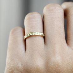 yellow sapphire ring, half eternity band gemstone ring, 14k gold, 18k gold, annivarsary ring for women, micro pave settings Yellow Sapphire Rings, Sapphire Band, Wood Gift Box, Pave Ring, Eternity Bands, 18k Gold, Gemstone Rings, Wedding Rings, Rose Gold