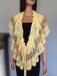 Shawl Poncho Wrap Stole Cotton Hand Knit Designer Fashion Spring Summer Hip Chic | eBay