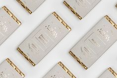 chocolate bar packaging | gold type on cardboard paper