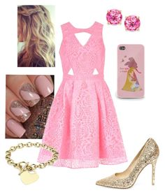 """""""Disney - Aurora"""" by briony-jae ❤ liked on Polyvore featuring Steve Madden, River Island, Victoria Townsend and Blue Nile"""