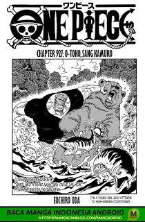 karasunime one piece chapter 927 seni anime seni