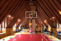 Attic space - sense of dimensions with 16 ft ceilings.  Liederbach and Graham Architects