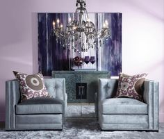 Refined Grace. I want these end chairs to be pushed together in front of our bed. Beautiful!