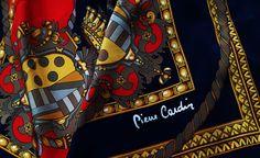 Vintage Silk Pierre Cardin Royal Scarf