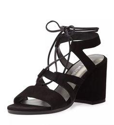 Pin for Later: Meet Summer's Easiest, Chicest Sandal  Stuart Weitzman Bigtiegirl Suede Lace-Up Sandal ($425)