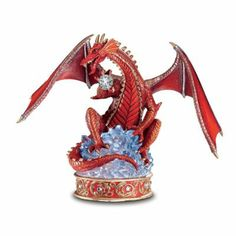 The Hamilton Collection Youngblood Dragon: The Guardian Red Dragon Figurine Red Dragon, Dragon Art, Chromatic Dragon, Types Of Dragons, Yuri On Ice Comic, Dragon Figurines, Dragon Statue, Knight Armor, Small Sculptures