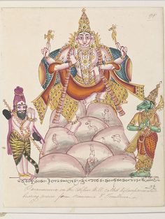 Shiva in his form of Dakshinamurti with the sages Narada and Tumburu on Mount Kailasa. (Painting)   V Search the Collections
