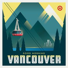 When Target launched it's first 200 stores in Canada, the brand needed to make a few friends. I came up with the idea to create vintage travel poster inspired artwork showing bullseye the dog traveling across the country.