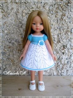 Crochet Doll Clothes, Girl Doll Clothes, Girl Dolls, Doll Patterns Free, Doll Clothes Patterns, Knitted Romper, Knitted Dolls, Baby Dress Images, Baby Knitting