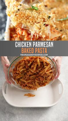 Chicken Parmesan Baked Pasta is the best holiday recipe made in one pan! This chicken pasta bake is an easy impressive Thanksgiving recipe that will become a family favorite! Save this easy food to make for dinner! Chicken Parmesan Pasta Bake, Baked Chicken Pasta Recipes, Italian Chicken Pasta, Easy Pasta Recipes, Easy Healthy Recipes, Cooking Recipes, Easy Thanksgiving Recipes, Thanksgiving Chicken, Chicken Holiday
