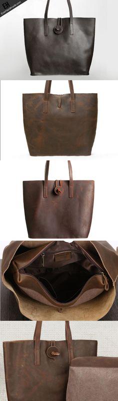 Handmade Leather handbag shoulder bag tote for women leather