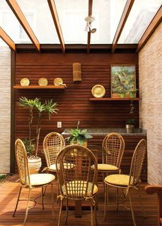 Modelle von Pergola in Außenbereichen - Fotos - Miranda Willians - Dekoration Paving Stone Patio, Wood Patio, Concrete Patio, Diy Patio, Patio Interior, Residential Interior Design, Interior Design Living Room, Residential Lighting, Contemporary Interior