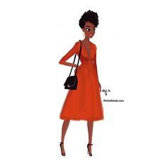 Nicholle Kobi - Sunday night in Theater. Black Girl Art, Black Women Art, Black Girls Rock, Black Girl Magic, Art Girl, Natural Hair Art, Pelo Afro, Divas, Black Artwork