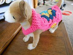 Ganchillo de la abuela Plaza de perro suéter fáciles de poner   Etsy