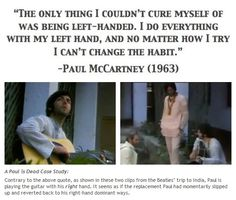 from http://thefaulofpaulmccartney.tumblr.com/post/15425126364/a-paul-is-dead-case-study-contrary-to-the-above