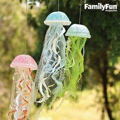 Jellyfish mobiles