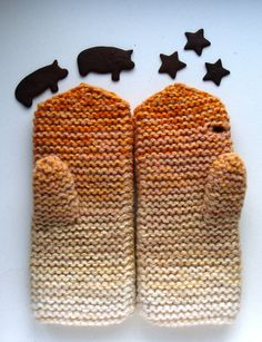 Leave a little button hole in mittens for texting.  Brilliant!