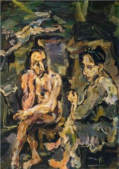 Oskar Kokoschka, <i>Orpheus und Eurydike</i> Courtesy Sotheby's Ernst Ludwig Kirchner, Matisse, Ludwig Meidner, Chaim Soutine, Portrait, Expressionist Artists, Art Database, Naive Art, Gustav Klimt