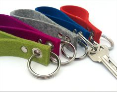 Merino Wool Felt Loop Keychain / Fob by dundryhill on Etsy, $8.00
