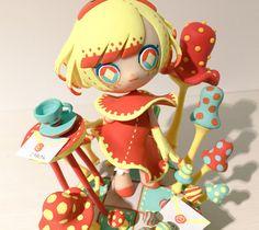 conomi (@conomirobamimi)   Twitter 3d Character, Character Design, Vinyl Toys, Vinyl Art, Art Prompts, Japanese Toys, Anime Figurines, Sculpture Clay, Designer Toys