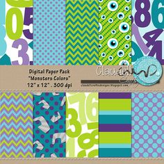 Hey, I found this really awesome Etsy listing at http://www.etsy.com/listing/174210504/monsters-colors-inspired-digital-paper