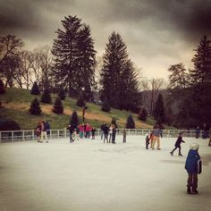 Ice skating at The Greenbrier, WV #thegreenbrier