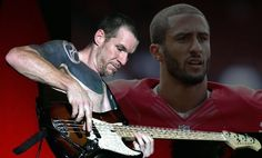 Tim Commerford, has given Collin Kaepernick a thumbs up for his national anthem…