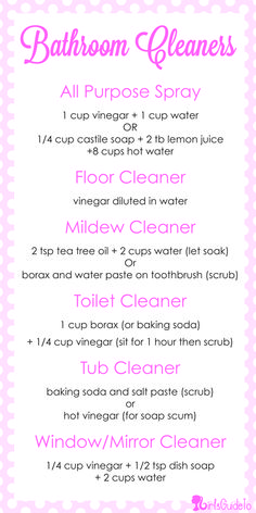 DIY: Natural Bathroom Cleaners